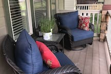 Enjoy the quiet evening nights on the front porch overlooking the greenbelt.