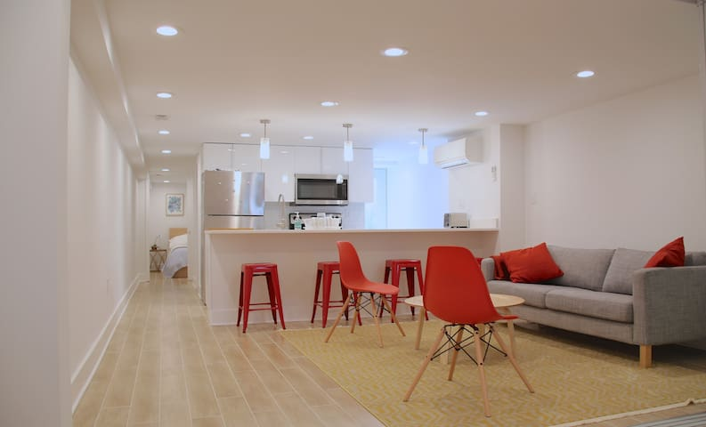 Modern Two Bedroom English Basement in Mt Pleasant