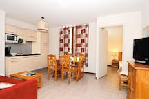 Cook delicious meals in your unit's kitchenette and enjoy them in the dining area with your group.