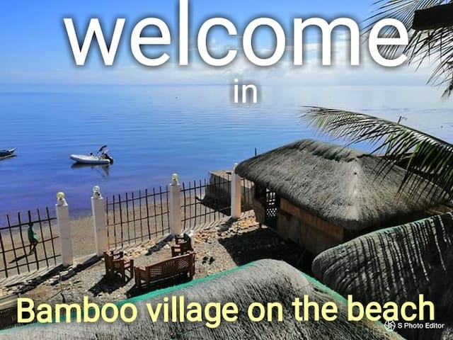 Вamboo village on the beach, bungalow #2