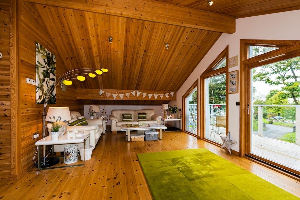 Huge lounge upstairs