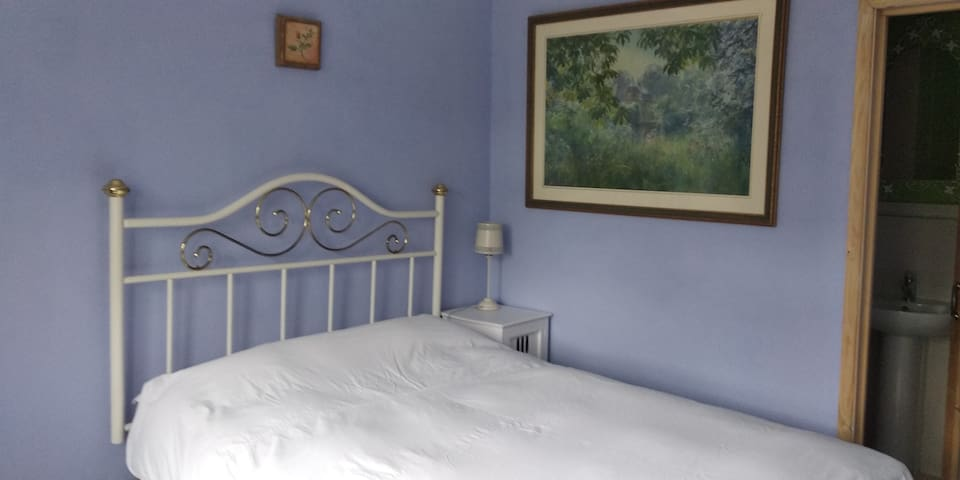 The Nelson. Comfy bed with ensuite bathroom.