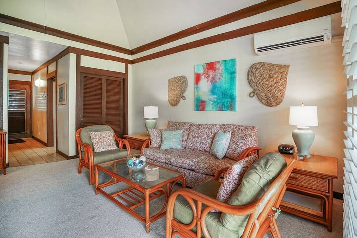 (KP41) 1Br Poipu Condo with AC, Steps to the Beach