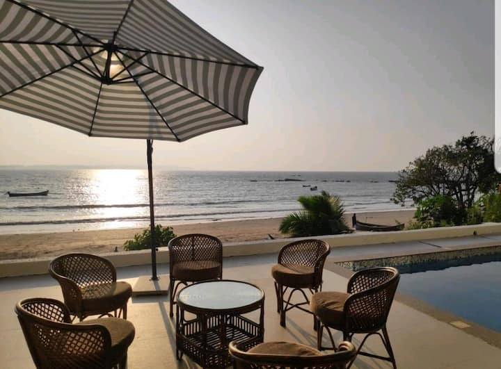 Goa Beach Villa with Private Pool and caretaker