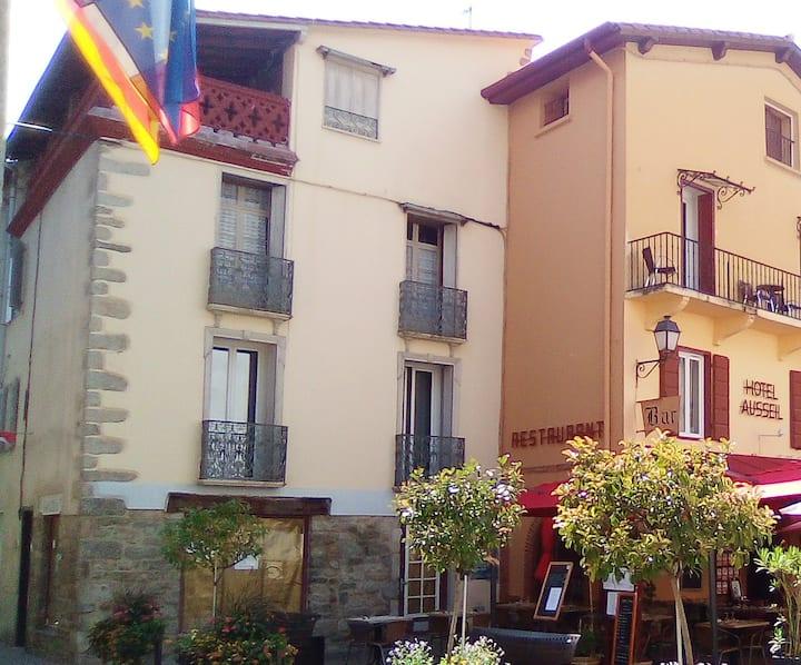 Appartement centre village sur la place animée.