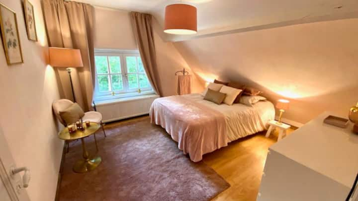 charmante kamer in een klassevolle villa .