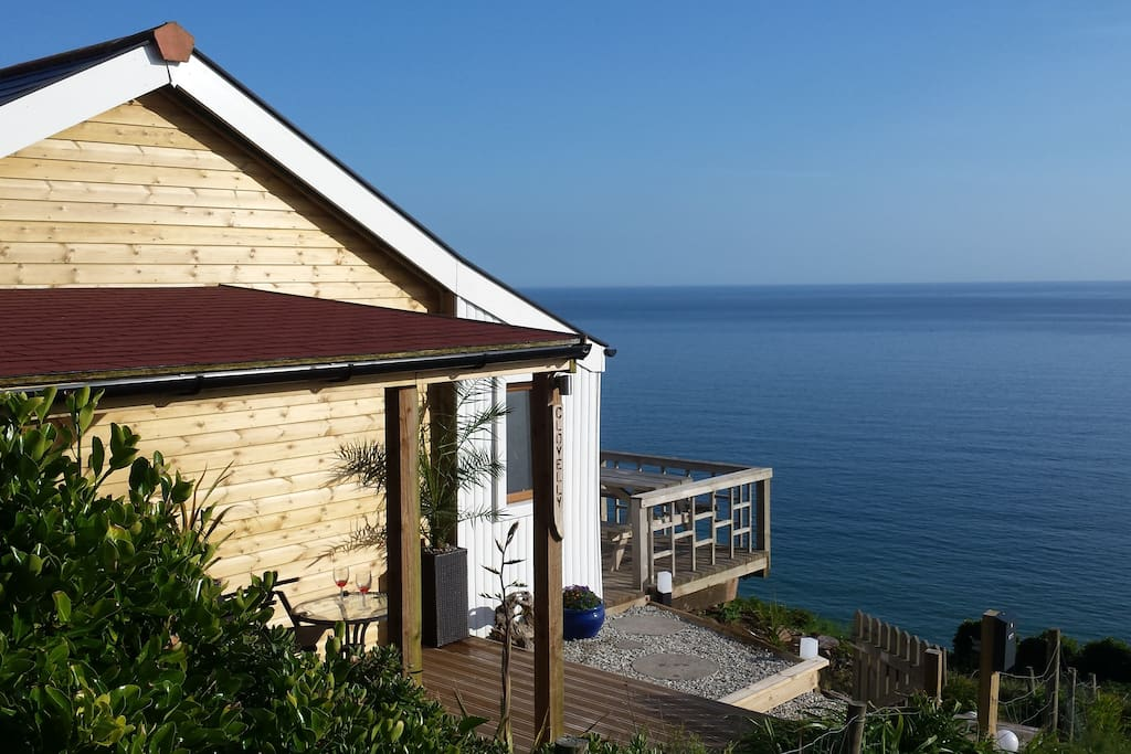 Your first sight of Clovelly beach house