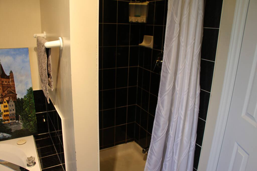 Shower stall in en suite