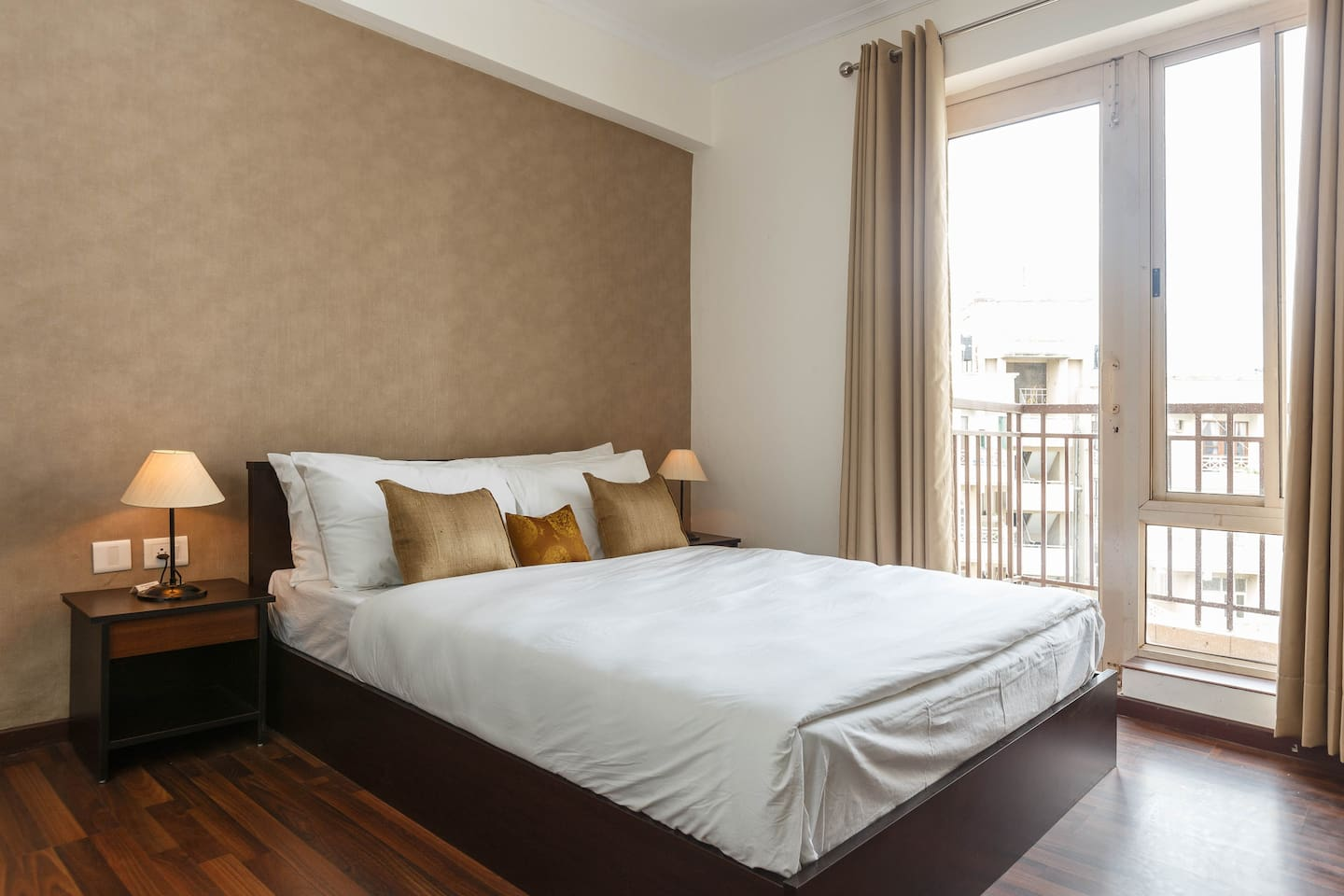 Master Bedroom - Our Master bedroom is elegantly designed to reflect our ethos of luxury living. The room has an air-conditioner and an en-suite bathroom.