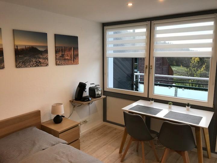 Apartment mit Balkon, Schwimmbad und Sauna
