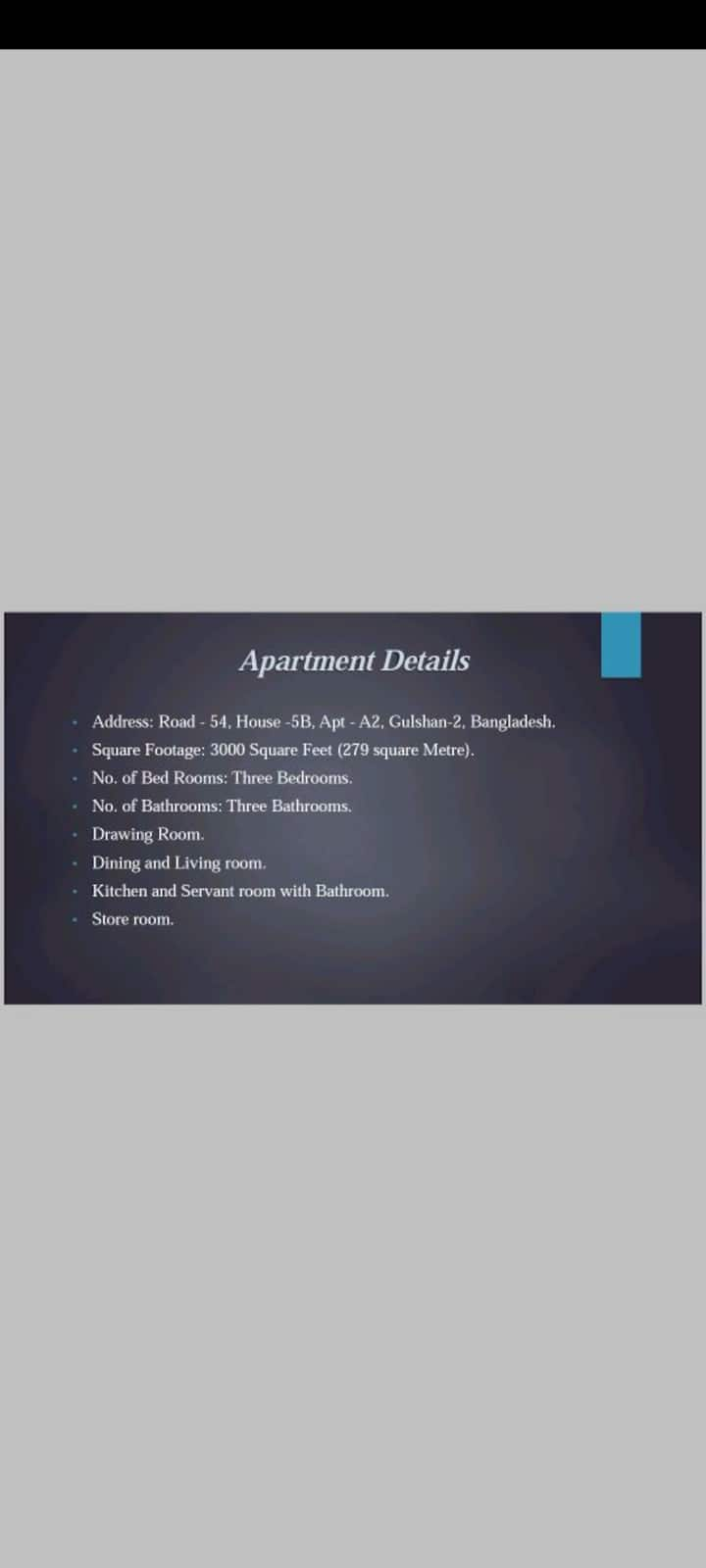 Beautiful Furnished Apartment in Gulshan, Road 54