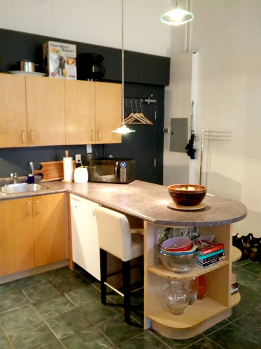 Everything you need in a kitchen - ready to entertain! Help yourself to anything in the cupboards.