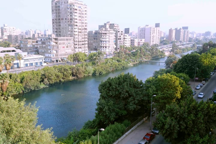 Nile view all over the apartment