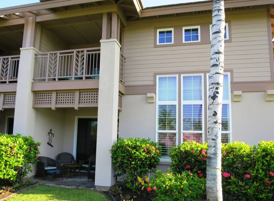 Welcome to Waikoloa Colony Villas 303. View of the unit from complex ground.