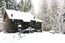 Cowboy Cabin in the snow!