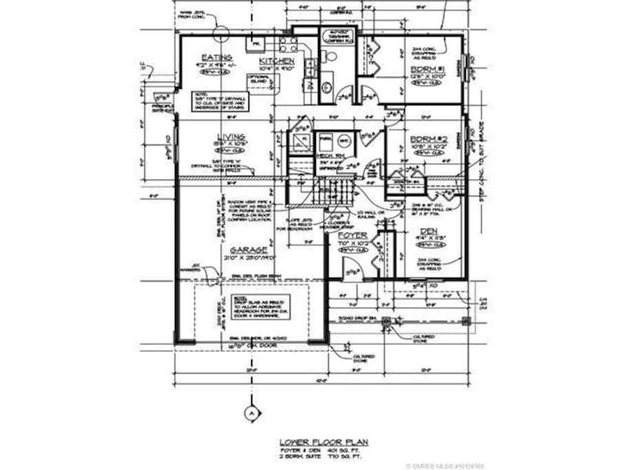 Floor plan for the 2 bedroom suite