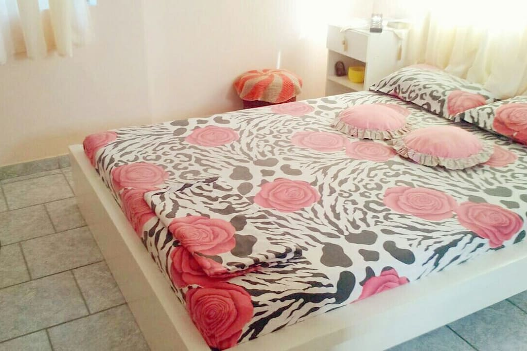 Master double bedroom with King size bed