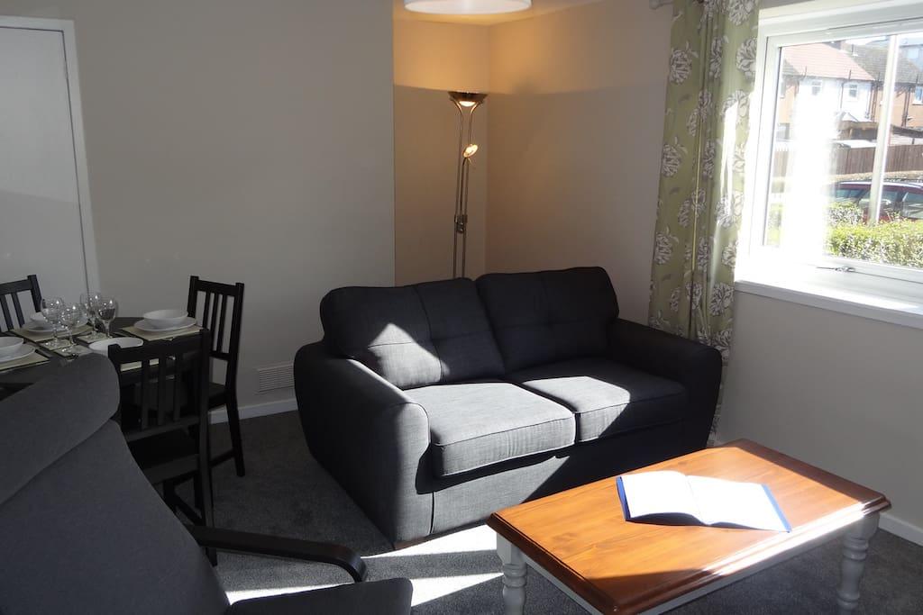 living room in sun