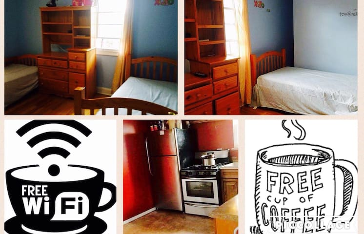 Cozy Private Room 1-2people by JFK - Cambria heights  - Huis