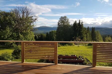 Studio med bastu och stor altan nära Åre