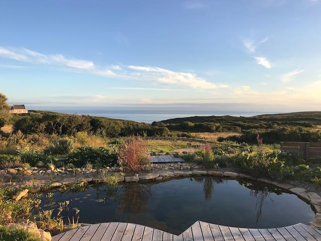 Accès à un jardin face à l'océan... joli non ?