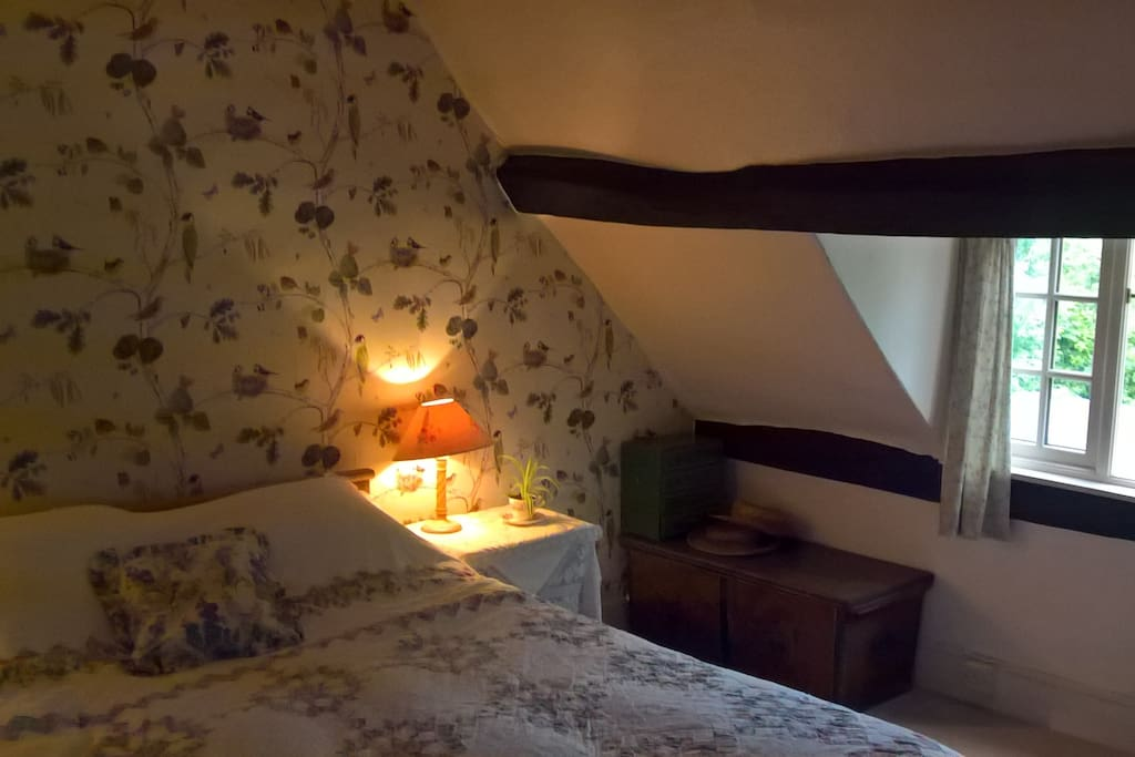 The guest bedroom - peaceful and cosy