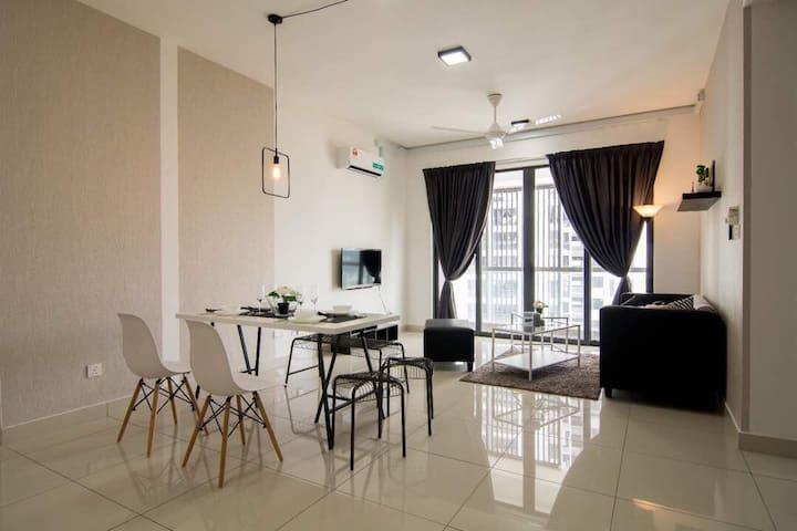 Cozy 3Bedroom Full Furnish CherasKL - Cheras 9 Miles - Appartement