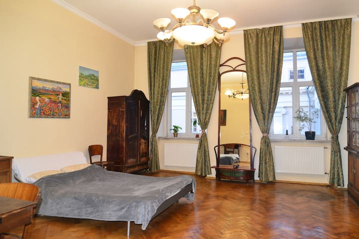 Spacious room in heart of old Lviv