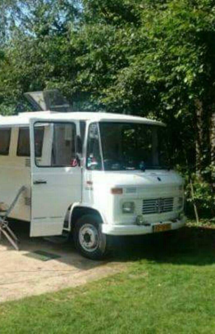 Mercedes 508d camper in Gambia :)