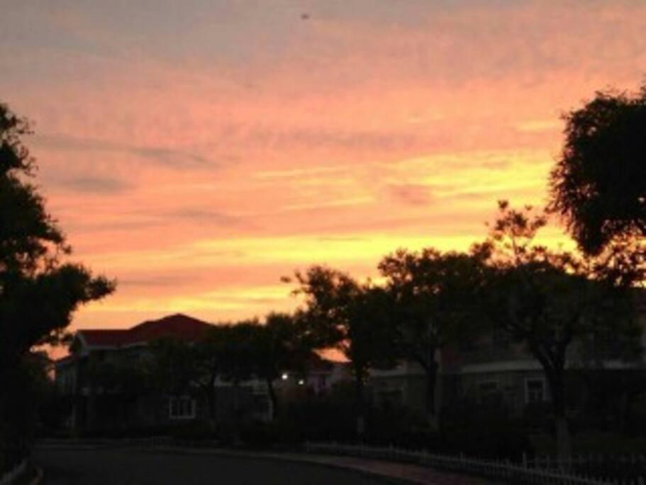 火红的夕阳