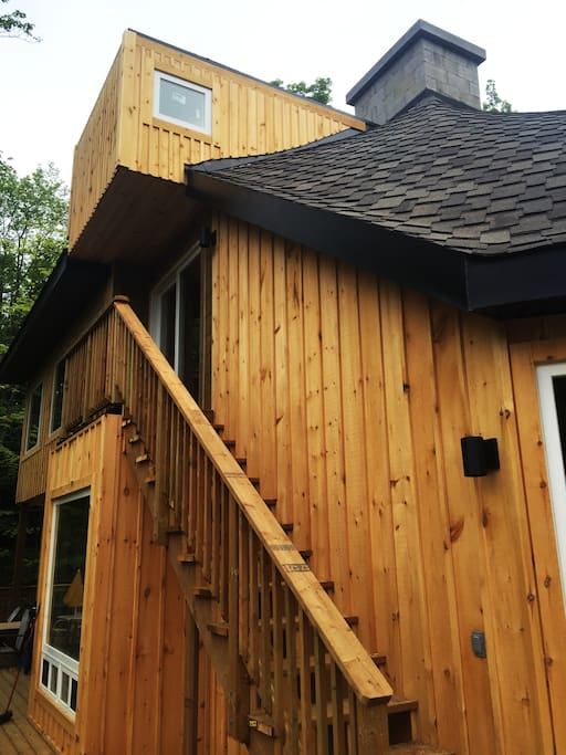 Cottage exterior from wrap around deck