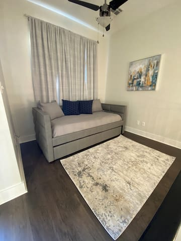 Loft area with daybed + trundle (2 twins, sleeps 2).