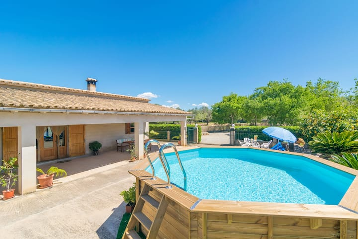 SON ROSSINYOL  - Beautiful country house with above ground pool in rural and quiet area. Free WiFi