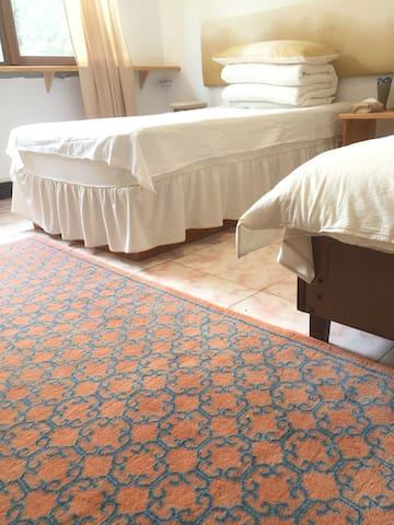 室内的草木染手工地毯