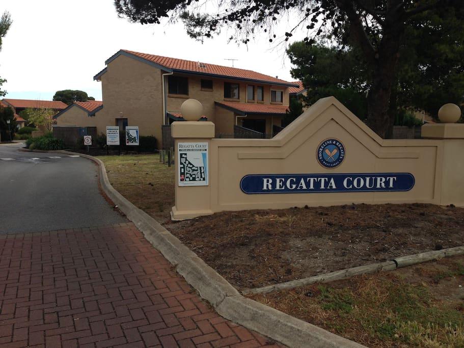 Entrance to Regatta Court