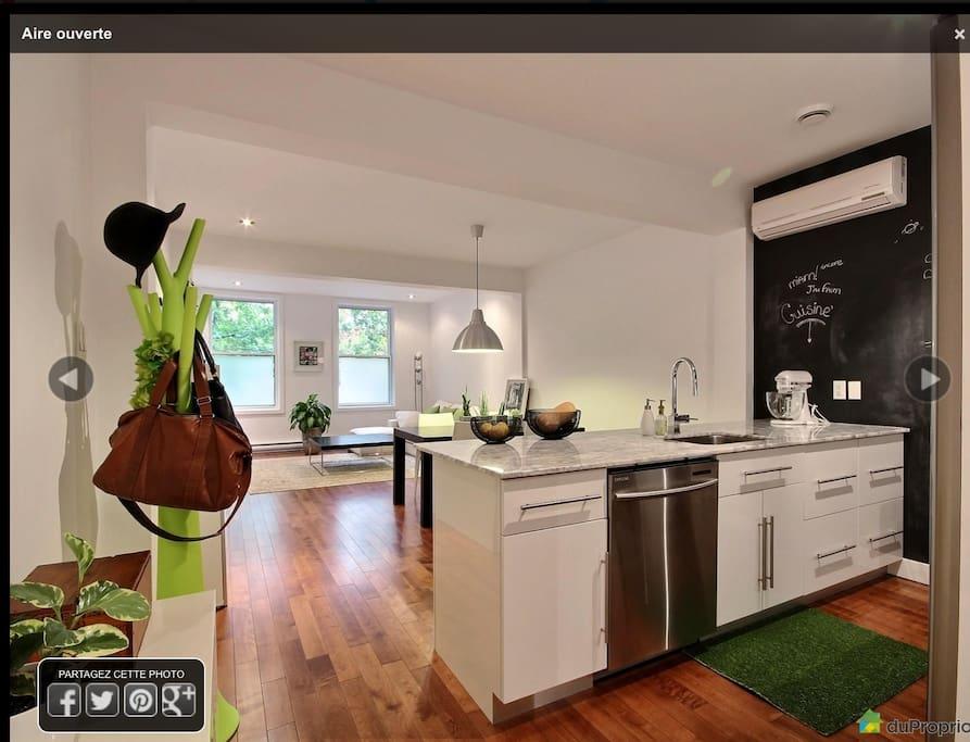 Open-concept kitchen & living room!