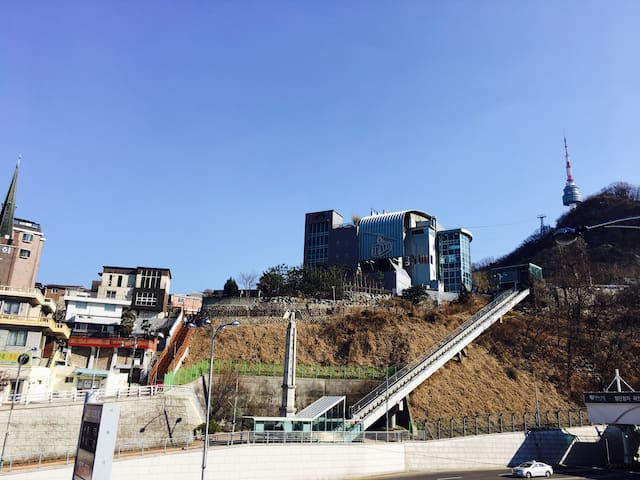 Designer hyojung's house 루프탑 이용! 명동.남산이  바로 앞!