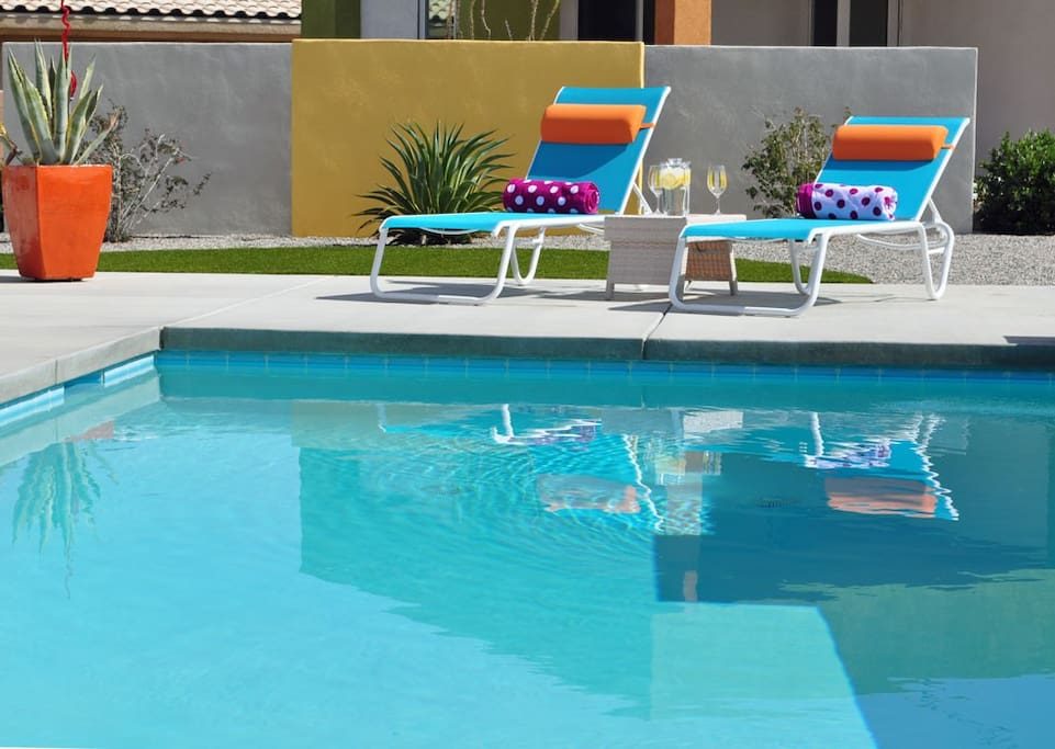 Our solar heated pool is the perfect place to soak in the sun and escape.