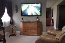 """55"""" tv with Netflix, YouTube and cable"""