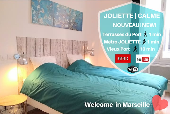 ★ Metro Joliette ☀️ Bright ❤️ Great Bed ✔Netflix