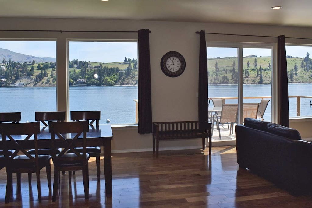 Gorgeous views of Lake Chelan from this wall of windows in the living/dining areas