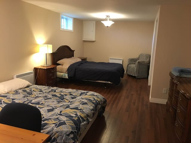 Large bedroom with private bathroom near MUN