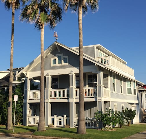 Three Palms, 100 steps from the beach! - Galveston - Pis