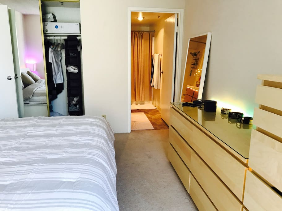 Closets, storage space and you private bathroom