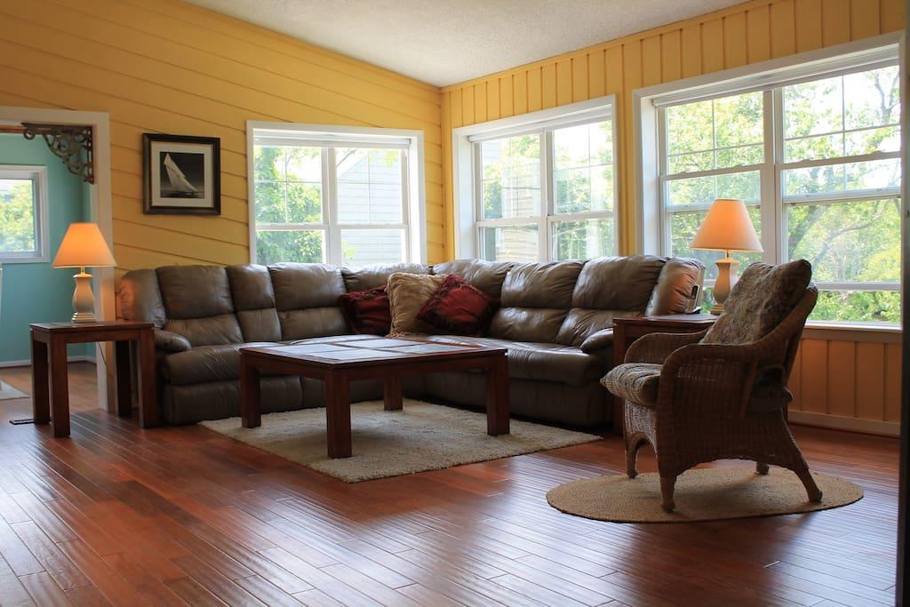 Relaxing & open floor plan.