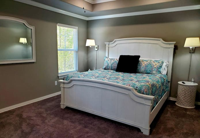 King room-with Serta mattress for a good nights rest while at your home away from home. Look out the window for a peak of the lake.