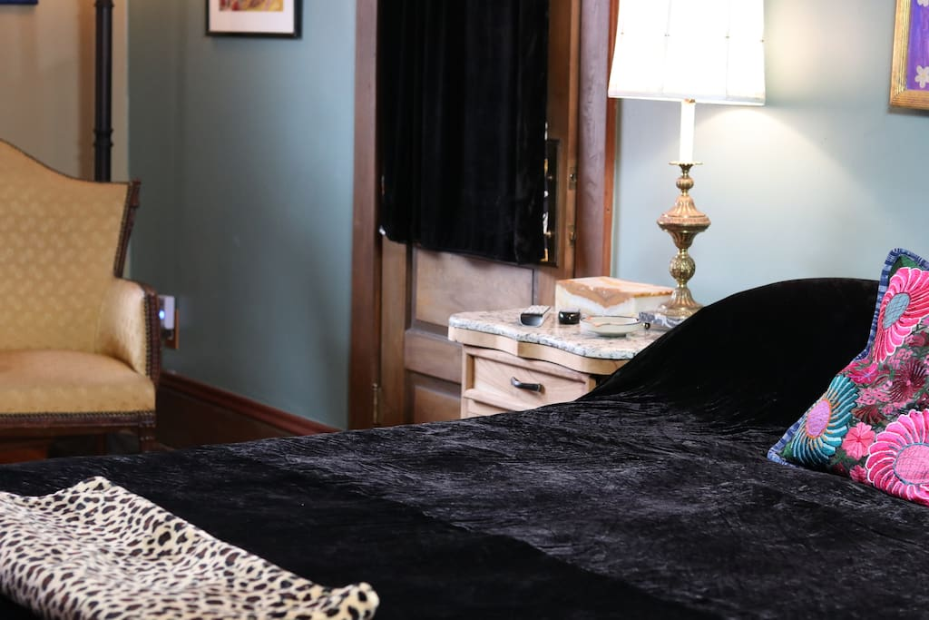 Two rooms are adjoining one another, both with King size beds, and their own private doors.