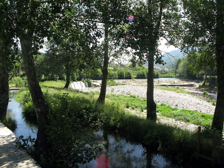 Eco-friendly riverside studio
