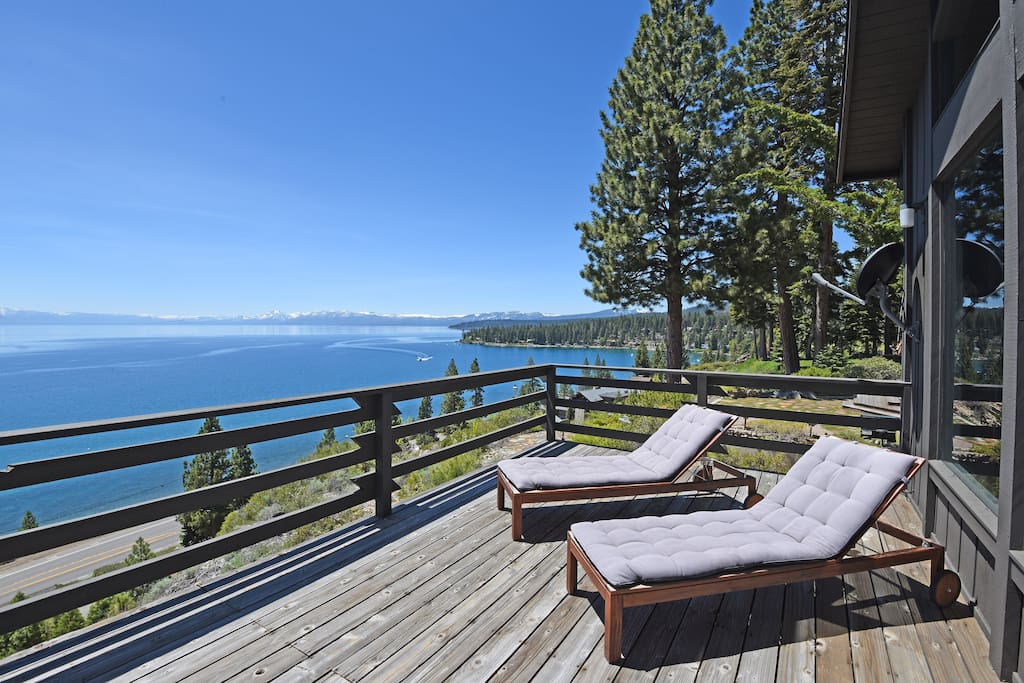 Southeast view of Lake Tahoe from the back deck