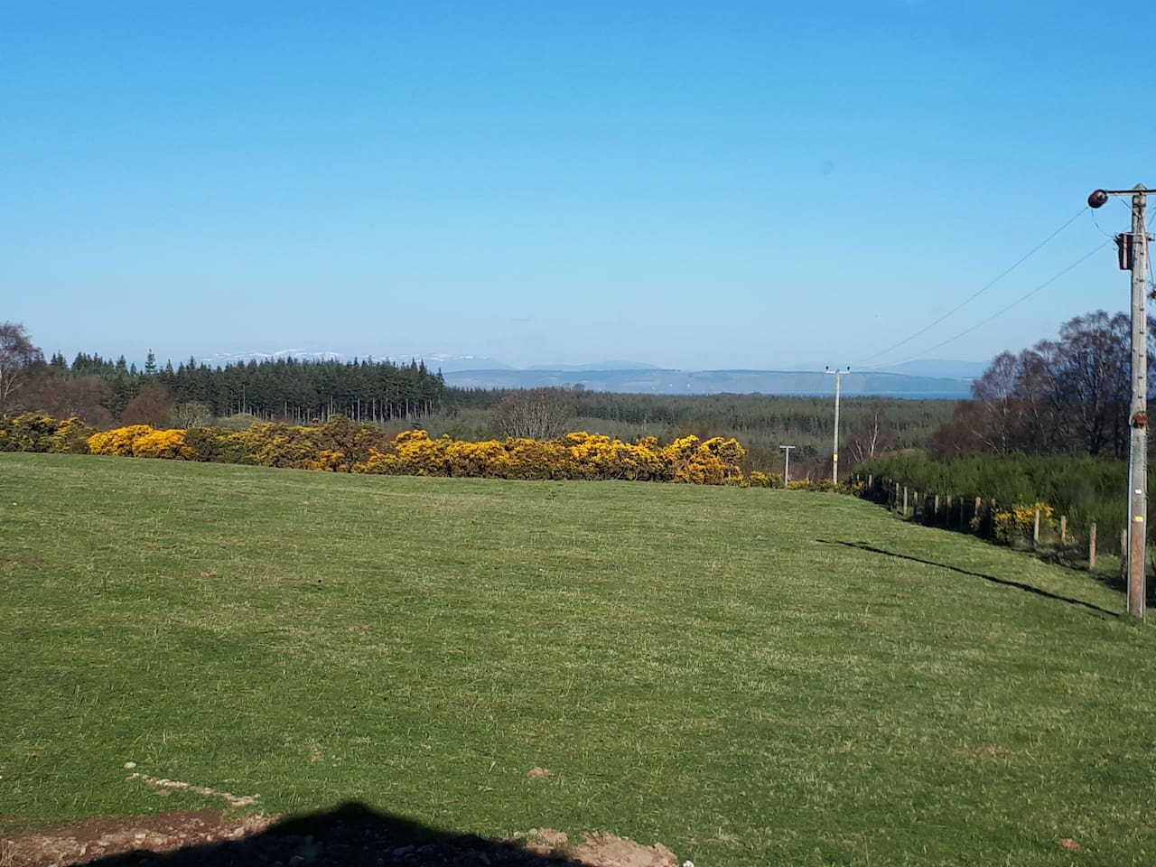 Open countryside views out to the Moray Firth. Central location to the Highlands, Morayshire and the Cairngorm National Park.
